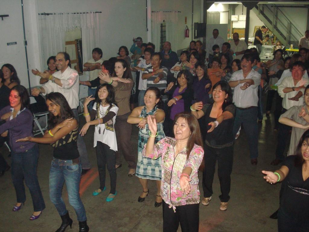 Aula de dança em evento